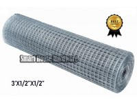 "1/2""x1/2""x50' Galvanized Welded Wire Mesh Net Netting(Dawai Jaring)"