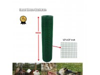 "1/2""x1/2""x3' x50' Green PVC Coated Galvanized BRC Welded Wire Mesh Net"