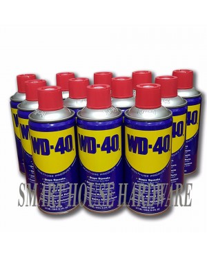 12 BOTTLE 277ML WD-40 MULTI PURPOSE LUBRICANT SPRAY(MADE IN USA)