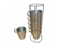 6 PCS STAINLESS STEEL COFFEE CUP SUIT