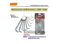 ASUMA 10PCS CHROME HEX KEY SET
