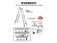 EVEREST 12 STEPS MUTLI-PURPOSE ALUMINIUM LADDER
