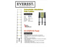 EVEREST 10 STEPS EXTENDABLE ALUMINIUM POLE LADDER