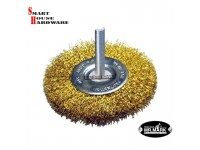 "MR.MARK MK-WEL-13004 4"" STEEL WIRE WHEEL BRUSH WITH SHANK"